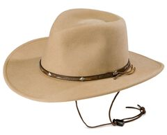 Stetson Mountain View Crushable Wool Cowboy Hat, Sand, hi-res