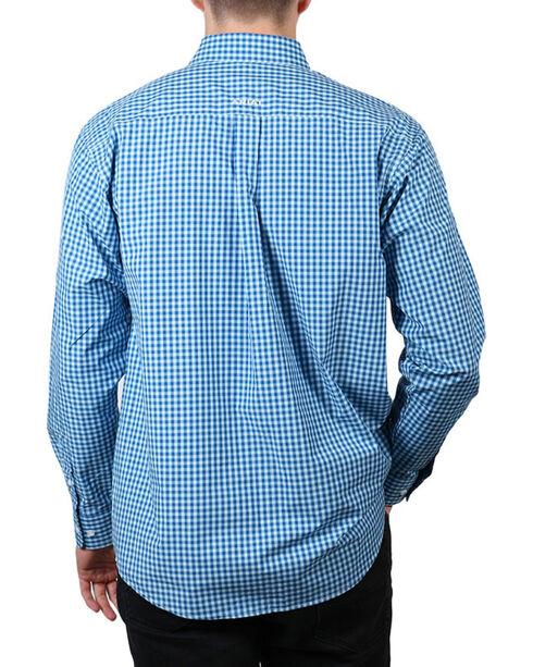 Ariat Men's Blue Mankins Long Sleeve Performance Shirt , Blue, hi-res