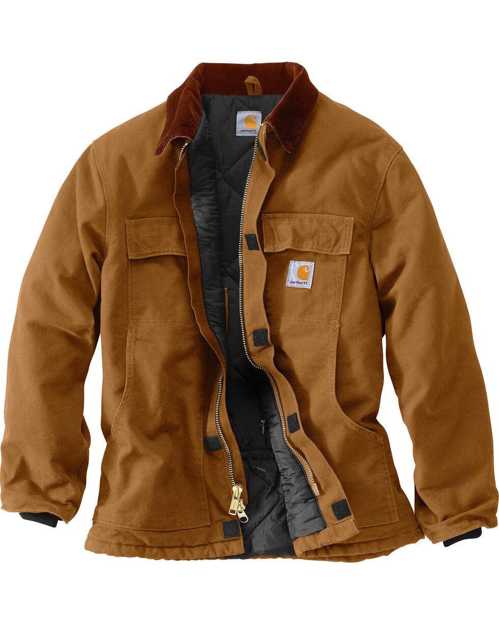Carhartt Arctic Lined Duck Work Coat, Carhartt Brown, hi-res