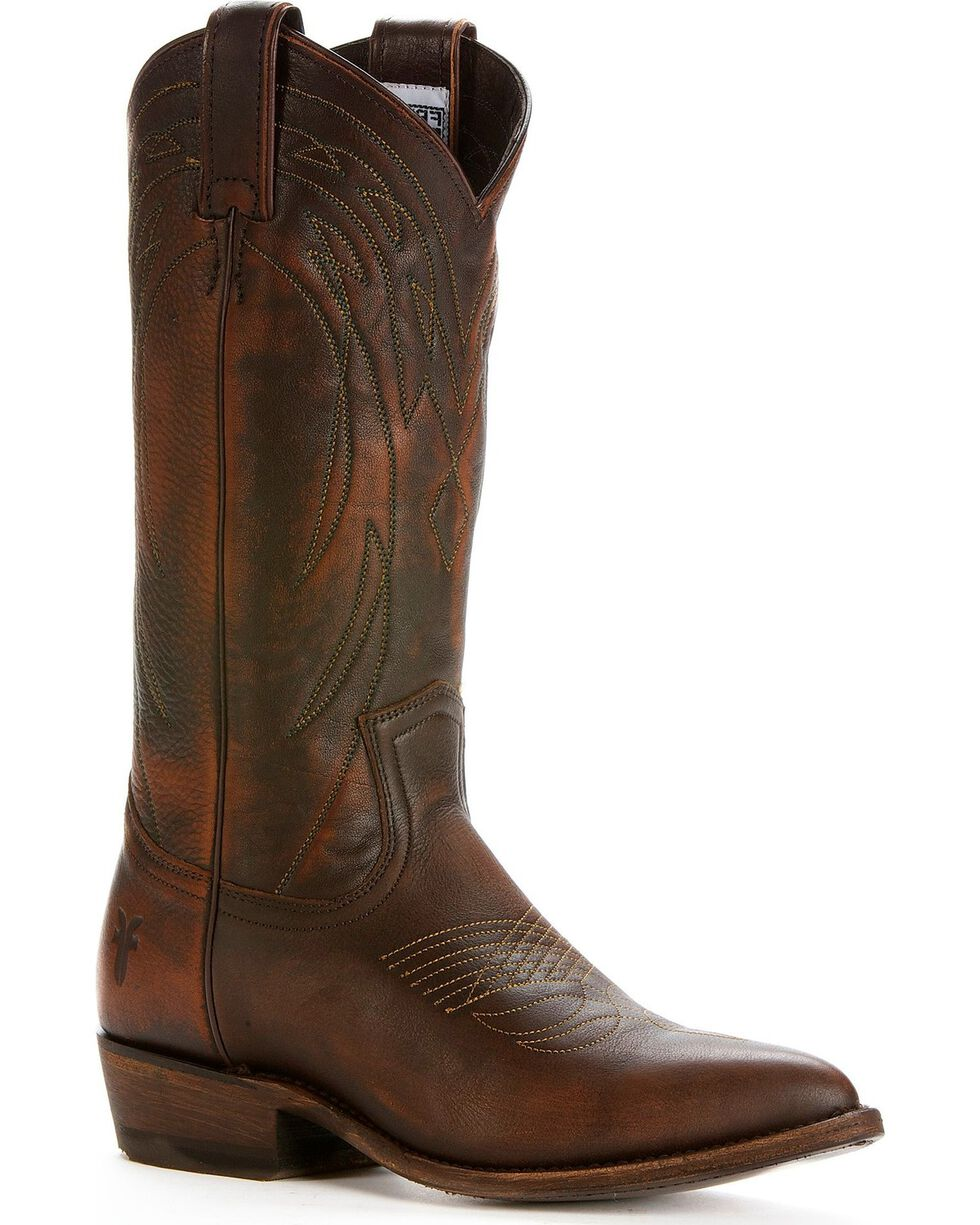 Frye Women's Billy Pull On Cowgirl Boots, Dark Brown, hi-res