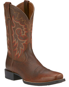 Ariat Heritage Reinsman Cowboy Boots - Square Toe, , hi-res