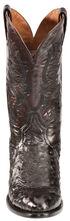 Dan Post Black Cherry Quilled Ostrich Cowboy Boots - Round Toe, Black Cherry, hi-res