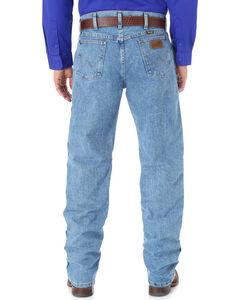 Wrangler Cool Vantage 36 Dark Stonewash Jeans - Slim Fit - Big and Tall, Light Stone, hi-res