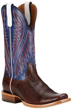 Ariat Pebbled Wine Hoolihan Cowboy Boots - Square Toe , , hi-res