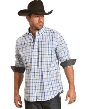Cody James Men's Dagwood Plaid Long Sleeve Button Down Shirt, White, hi-res