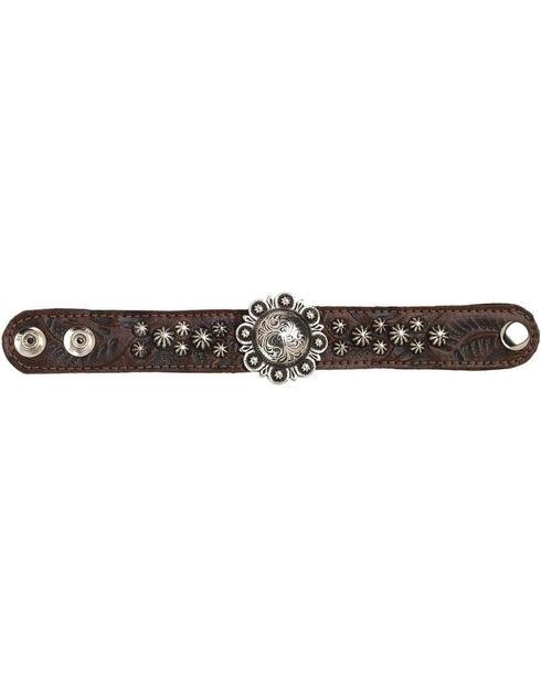 American West Women's Chestnut Narrow Cuff Bracelet , Chestnut, hi-res