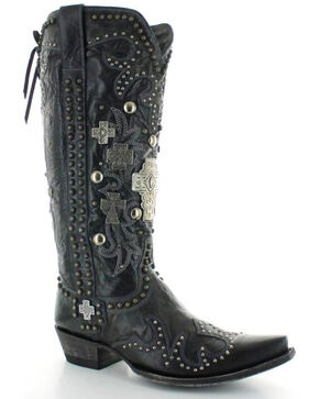 Old Gringo Double D Ranch Ammunition Black Cowgirl Boots - Snip Toe, Black, hi-res