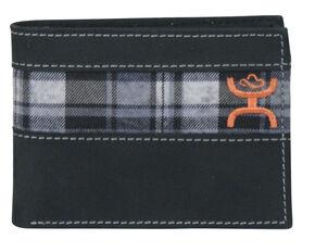 Hooey Men's Black and Grey Plaid Bi-Fold Wallet, Multi, hi-res