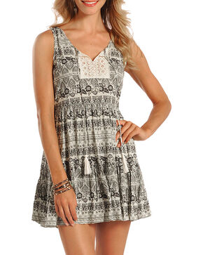 Rock & Roll Cowgirl Women's Sleeveless Print Dress , Natural, hi-res