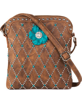 Blazin Roxx Women's Willow Crossbody Handbag , Brown, hi-res