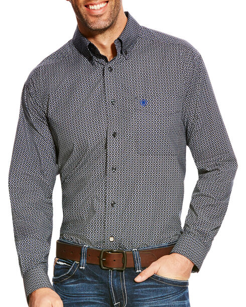 Ariat Men's Borden Classic Fit Poplin Print Button Down Shirt - Big & Tall, , hi-res
