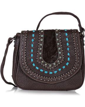 Shyanne® Women's Embellished Saddle Crossbody Bag, Mauve, hi-res
