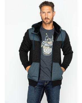 Moonshine Spirit Men's Flask Hooded Sweater, Black, hi-res