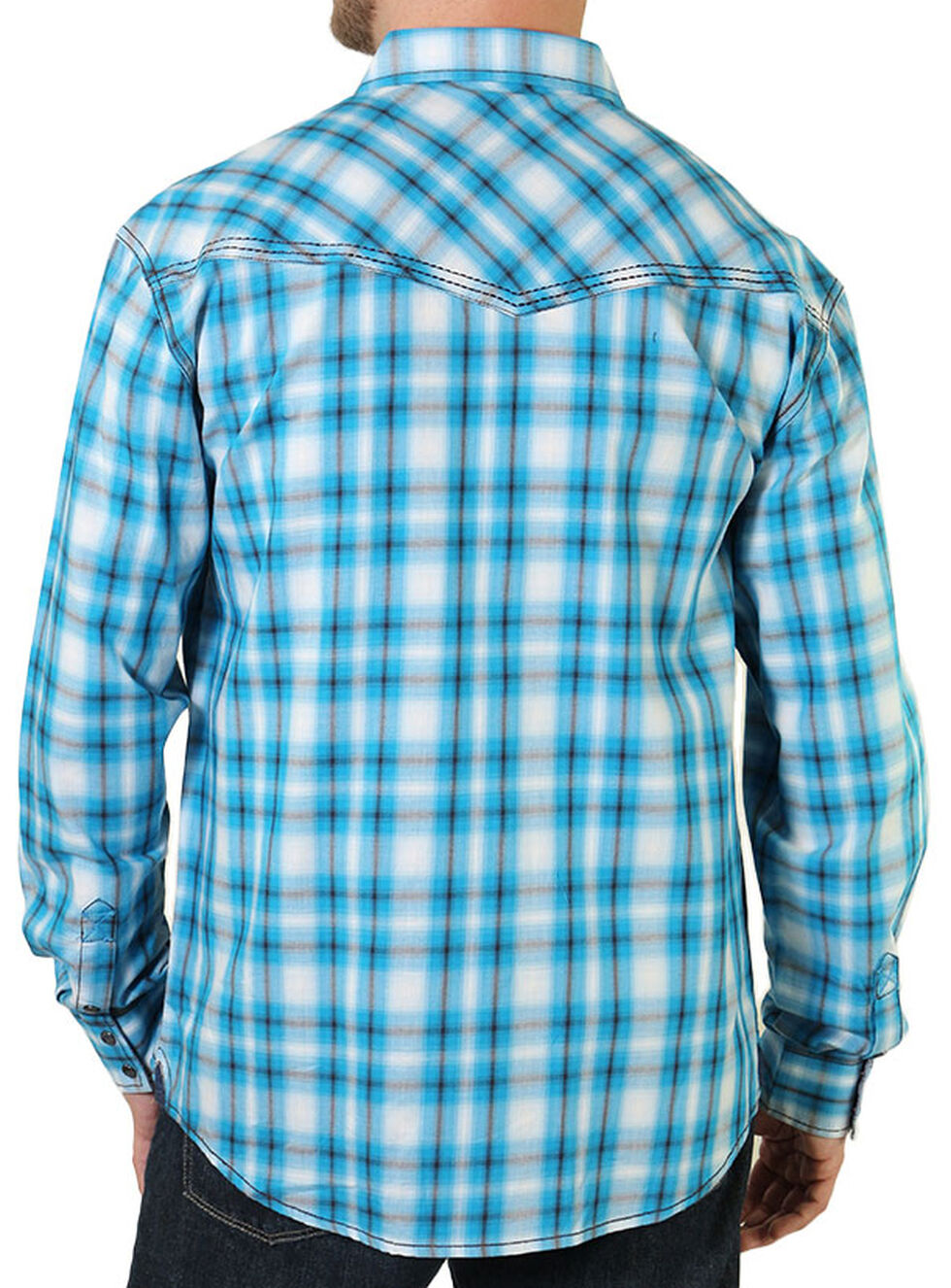 Moonshine Spirit Men's String Fellow Western Shirt, Blue, hi-res
