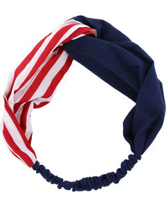 Shyanne Women's Americana Pattern Stripes Headband , Red/white/blue, hi-res
