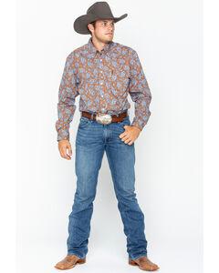 Cinch Men's Paisley Print Long Sleeve Western Shirt , Brown, hi-res