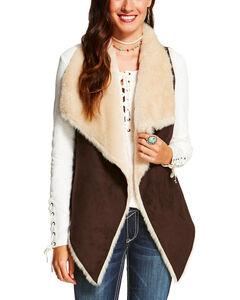 Ariat Women's Brown Kesha Vest, Brown, hi-res