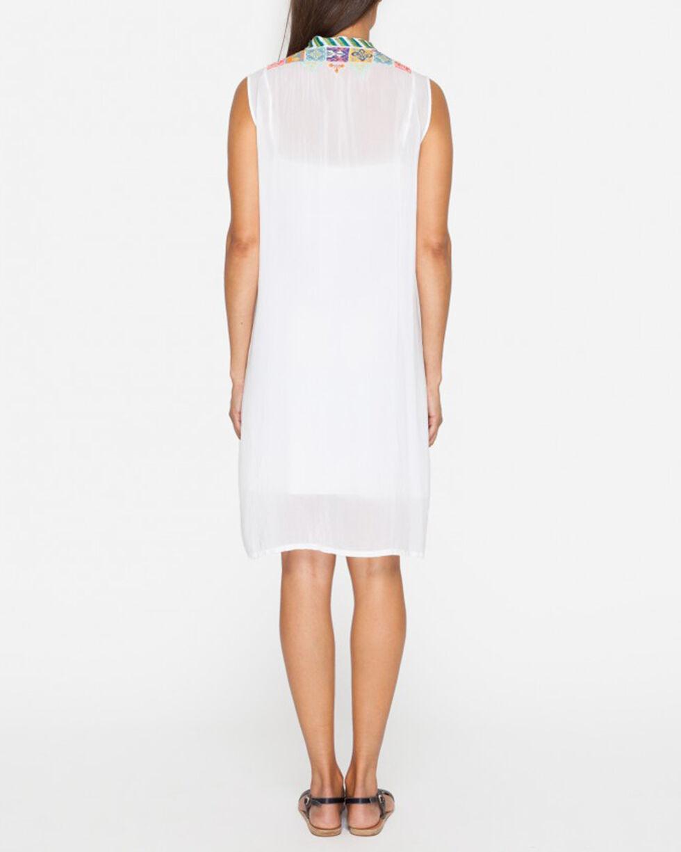 Johnny Was Women's Torreya Button Down Dress , White, hi-res