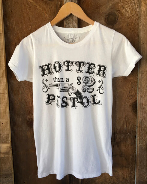 Bandit Women's White Hotter Than A Pistol Tour Tee , White, hi-res