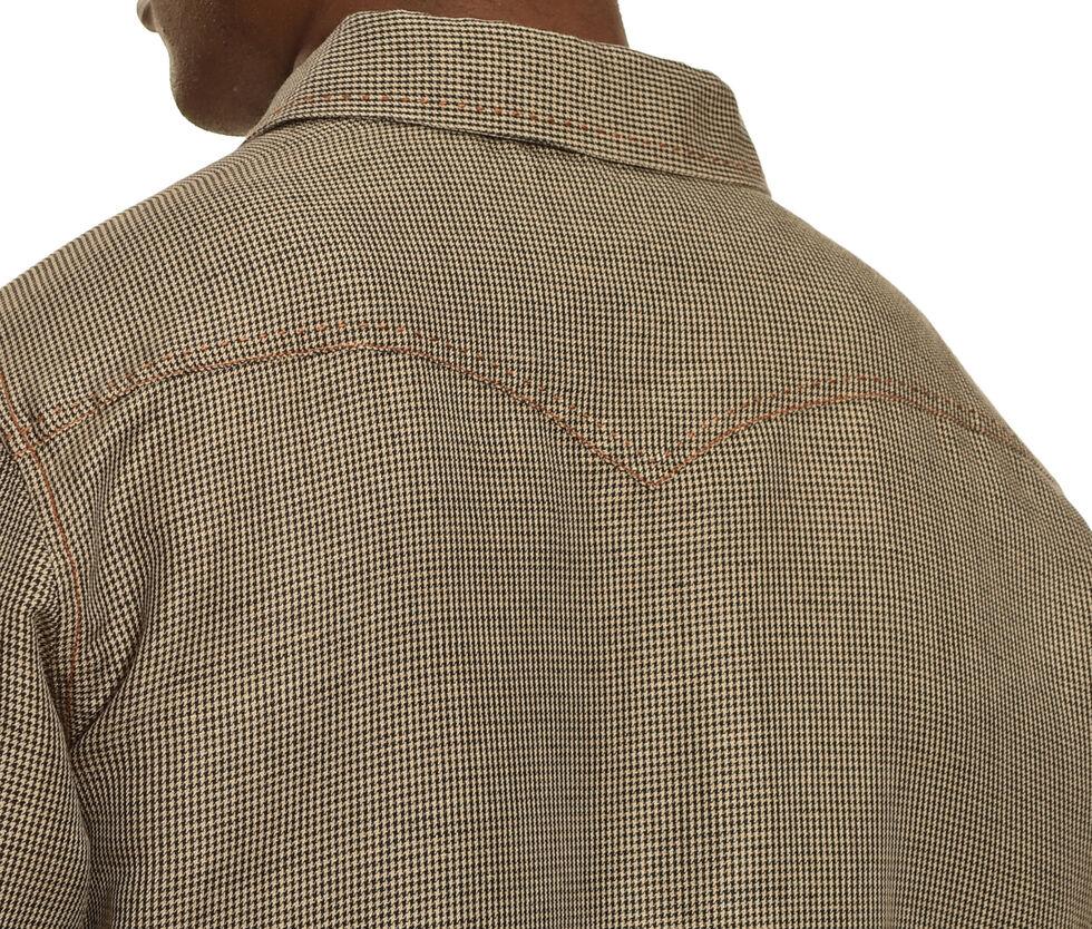 Ryan Michael Men's Black Vintage Pick Stitch Houndstooth Shirt, Black, hi-res