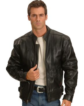 Milwaukee Motorcycle Sioux Falls Leather Jacket, Black, hi-res