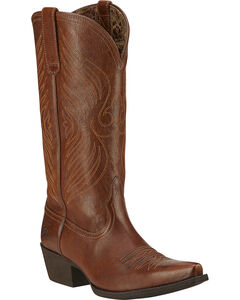 Ariat Round Up Cowgirl Boots - Snip Toe, , hi-res