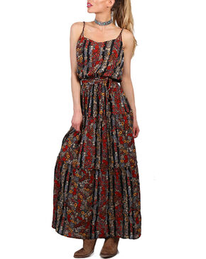 Shyanne Women's Floral Maxi Dress, Black, hi-res