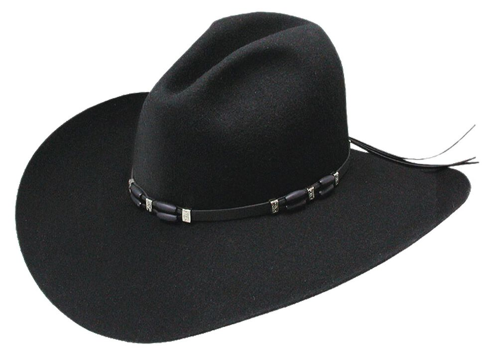 Resistol 2X Cisco Felt Cowboy Hat, Black, hi-res