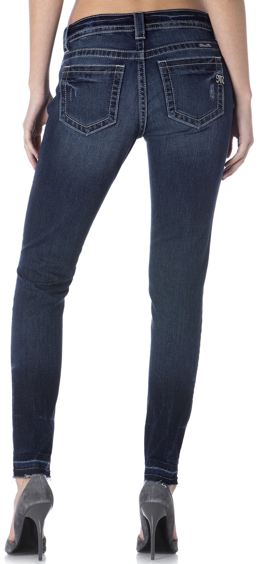 Miss Me Release Hem Destructed Skinny Jeans , , hi-res