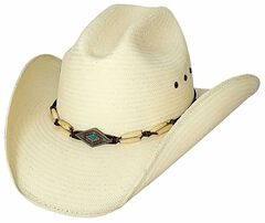 Bullhide Terri Clark If You Want Fire Shantung Straw Cowboy Hat, Natural, hi-res