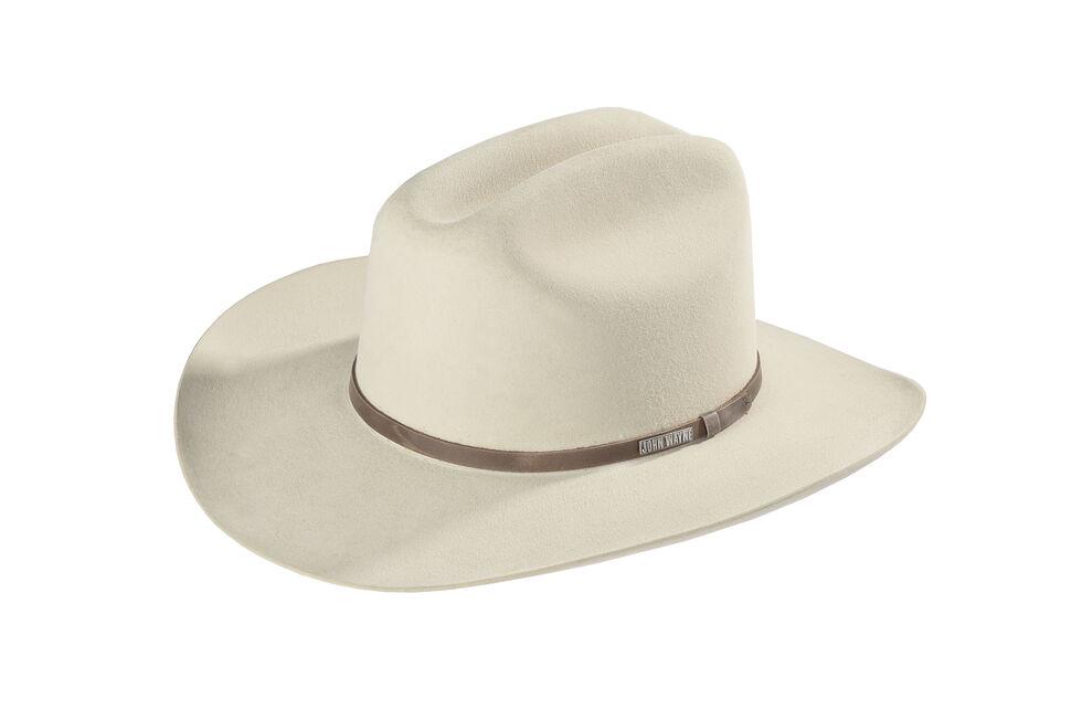 Resistol John Wayne 6X Fur Felt Duke Cowboy Hat, Silverbelly, hi-res