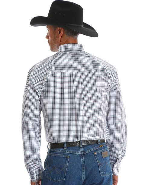Wrangler Men's George Strait Long Sleeve Shirt - Big and Tall , Red, hi-res