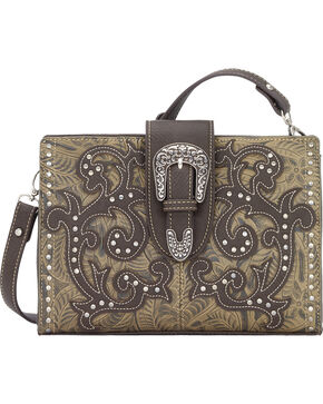 Bandana by American West Laramie Collection Clutch, Sage, hi-res