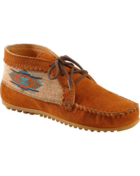 Women's Minnetonka El Paso Ankle Moccasin Boots, Brown, hi-res