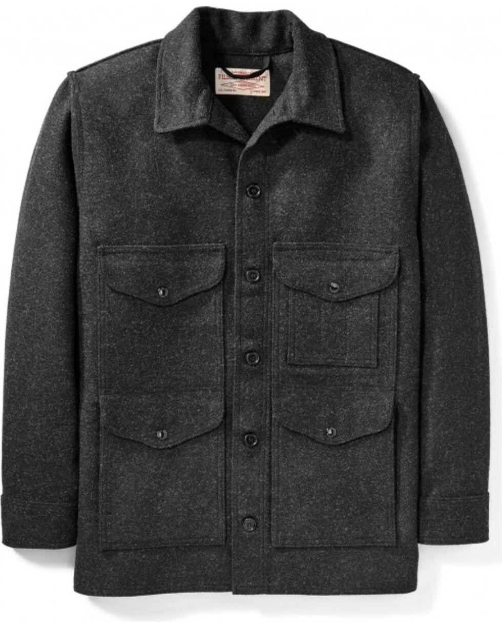Filson Men's Charcoal Mackinaw Wool Cruiser Jacket, Charcoal, hi-res