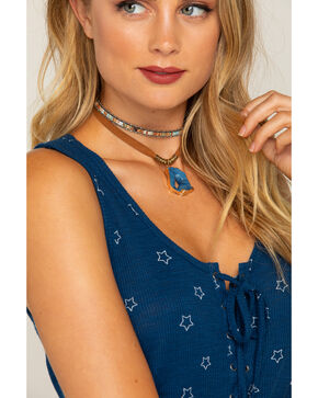 Shyanne Women's Adilene Blue Agate Choker Set, Gold, hi-res