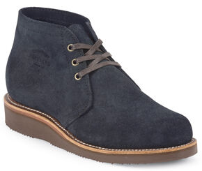 Chippewa Men's Modern Suburban Navy Suede Shoes, Navy, hi-res