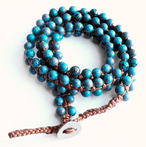Jewelry Junkie Double Strand Turquoise Beaded Wrap Bracelet, Multi, hi-res