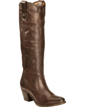 Frye Women's Jackie Button Rididng Boots - Round Toe, Chocolate, hi-res