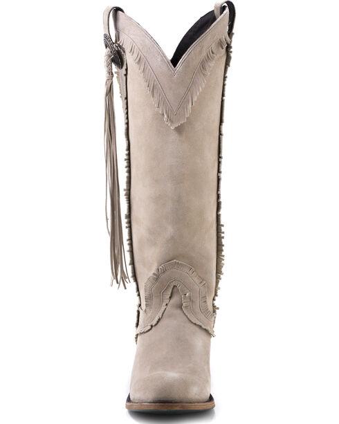 Lane Women's Sierra Fringe Boots -  Round Toe , Cream, hi-res