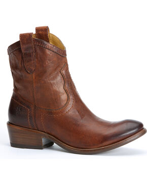 Frye Women's Carson Shortie Cowgirl Boots, Brown, hi-res