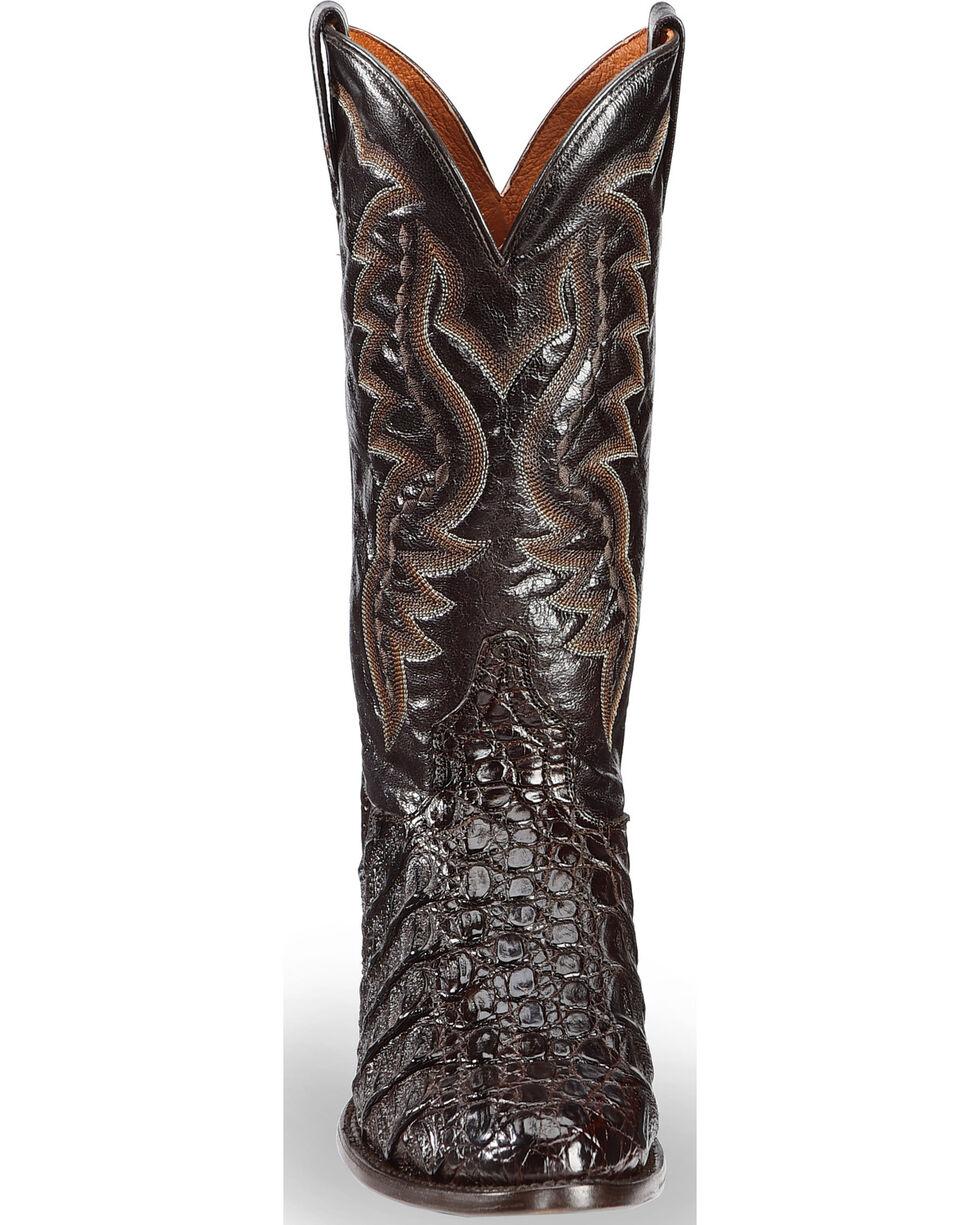 Dan Post Flank Caiman Cowboy Boots, Chocolate, hi-res