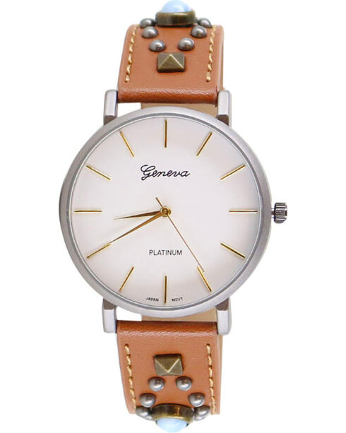 Shyanne Women's Studded Watch, Brown, hi-res