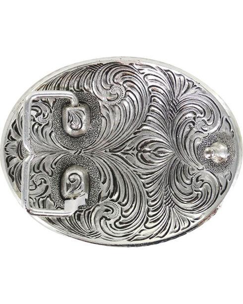 Cody James Men' Rodeo Filigree Belt Buckle, Silver, hi-res