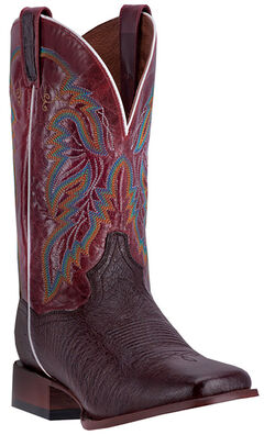 Dan Post Men's Brown Smooth Ostrich Callahan Cowboy Boots - Broad Square Toe, , hi-res
