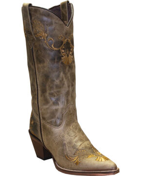 Rawhide by Abilene Boots Women's Embroidered Western Boots - Pointed Toe, Tan, hi-res