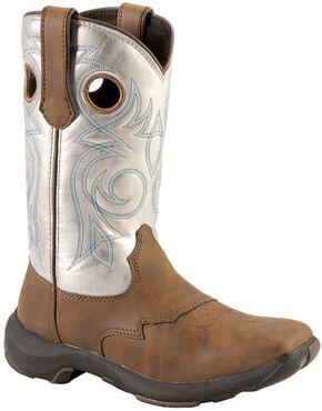Durango Rebelicious Cowgirl Boots - Square Toe, White, hi-res