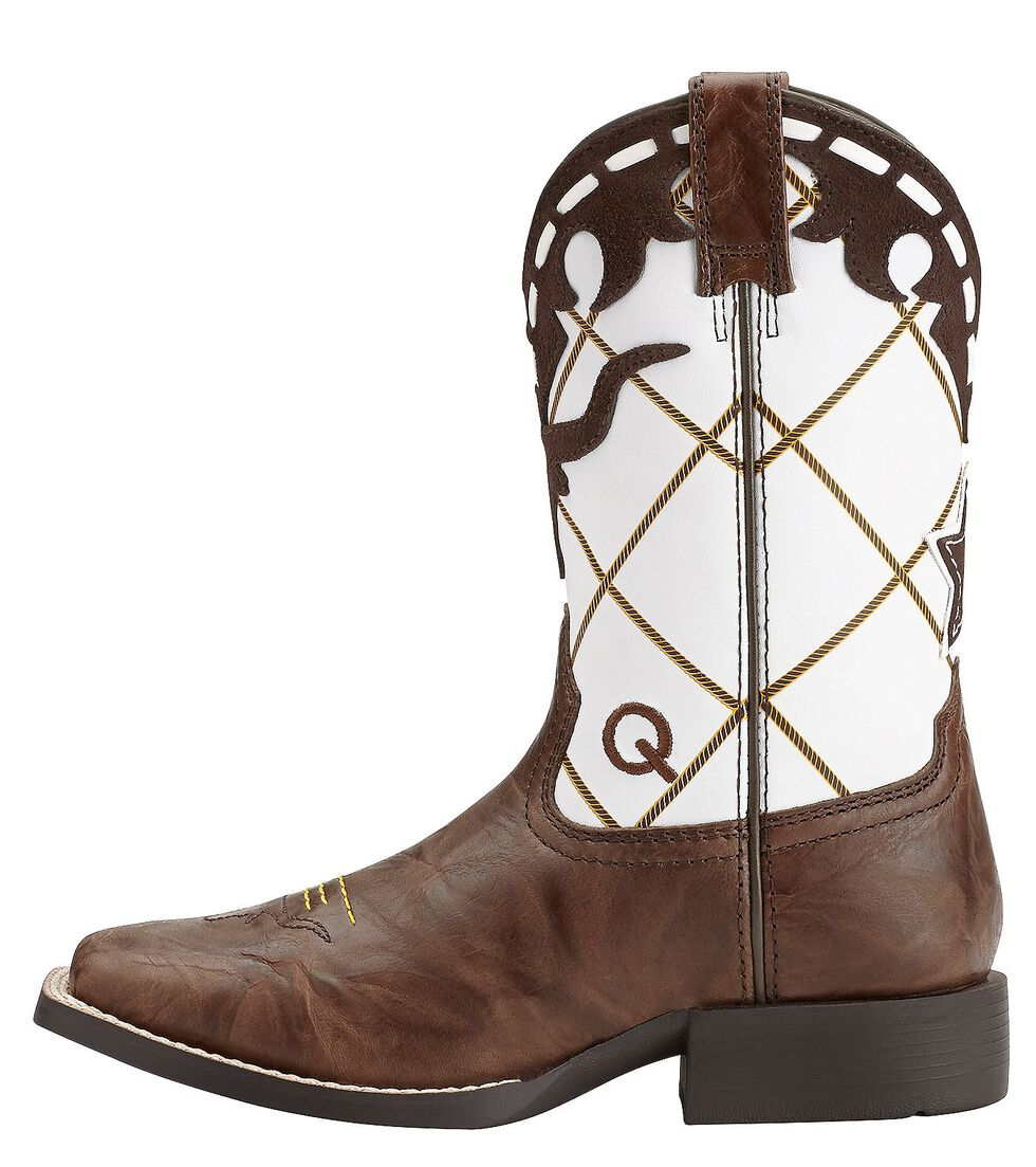 Ariat Youth Boys' Dakota Dogger Cowboy Boots - Square Toe, Brown, hi-res