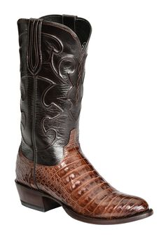 Lucchese Handcrafted 1883 Caiman Belly Cowboy Boots - Round Toe, , hi-res