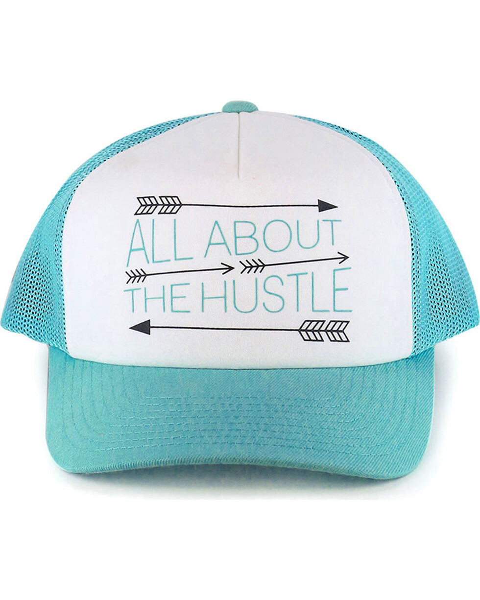 Hooey Women's Turquoise All About The Hustle Baseball Cap , , hi-res